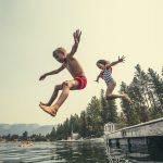 kids jumping water:liz's blog