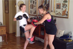 Having fun with kickboxing with Energetic Juniors kids training program