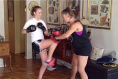 Having fun with kickboxing with Energetic Juniors kids training program