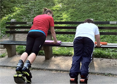 Personal training for kids at Central Park, NYC