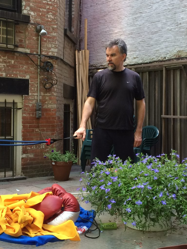 John training outdoors #2